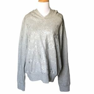 NWT Socialite Grey Hoodie with Metallic graphic
